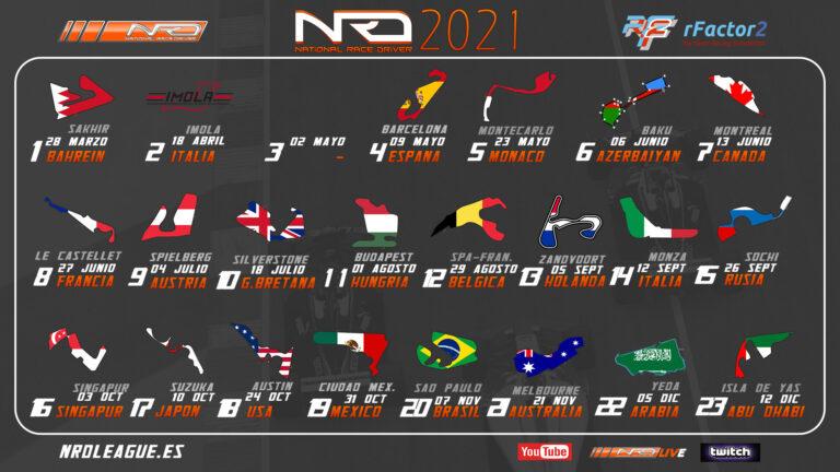 Calendario FormulaNRD 2021
